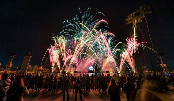 pokaz światła Disney World