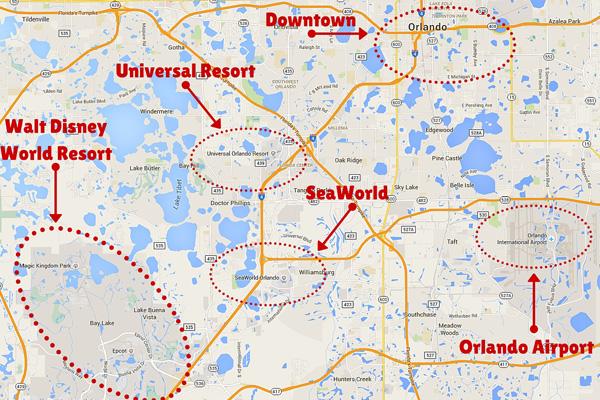 położenie Lotniska Orlando