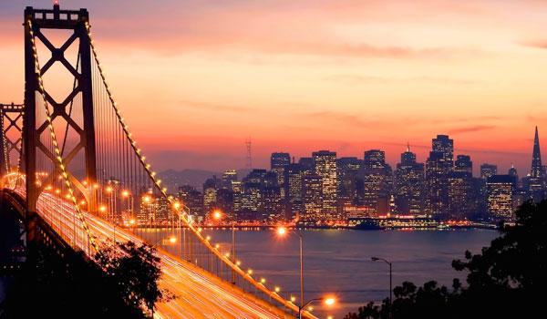 San Francisco widok nocą