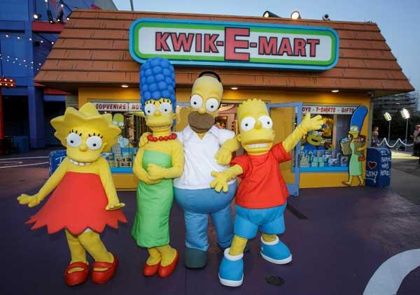 Simpsons Universal Hollywood