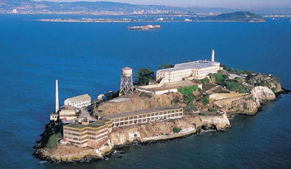Alcatraz z lotu ptaka