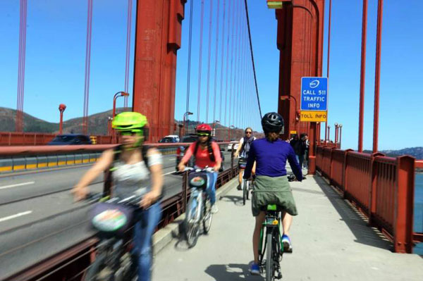Golden Gate rowerem