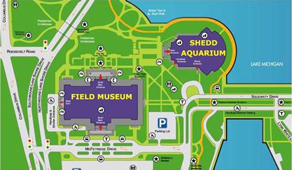 Shedd Aquarium na mapie