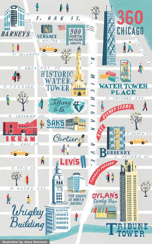 mapa Magnificent Mile