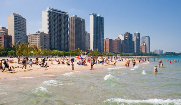 plaża w Chicago