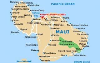 Maui mapa lotnisko