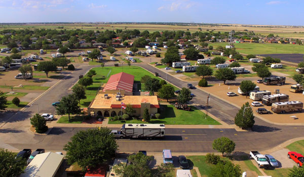 Parking kamperów Big Texan