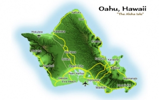 mapa Oahu