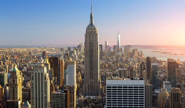 widok z Rockefeller Center