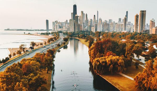 jesień w Chicago