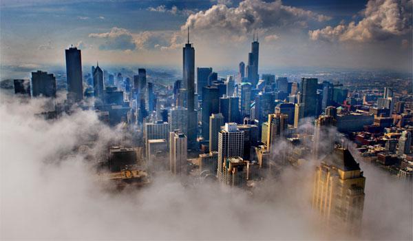 klimat Chicago mgła