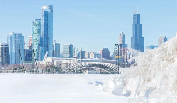 zima w Chicago