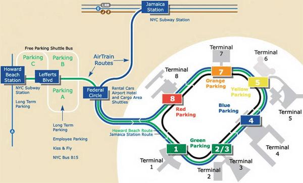 JFK mapa lotniska