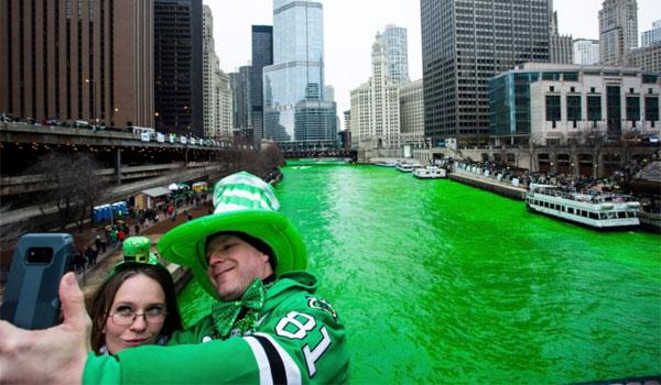 zielona rzeka Chicago