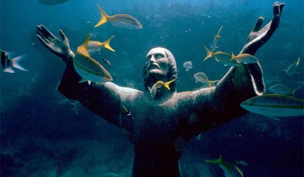 podwodny Chrystus Floryda
