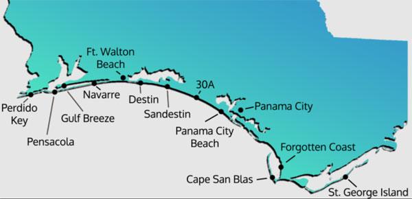 Emerald Coast mapa