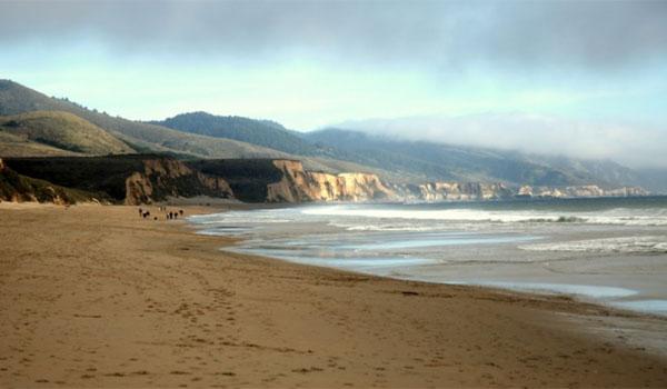dzika plaża Kalifornia