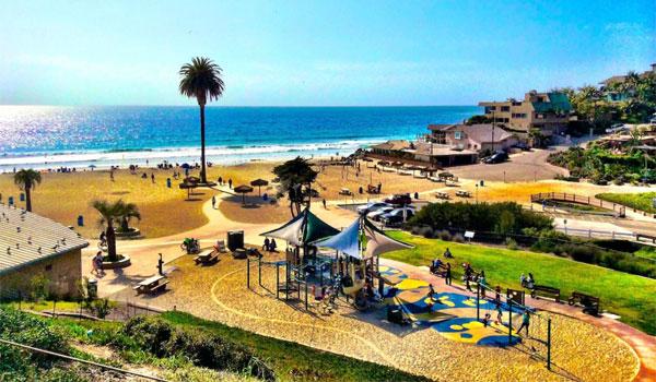 plac zabaw na plaży San Diego