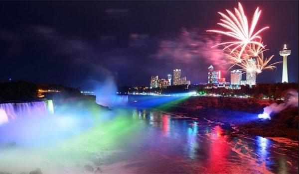Niagara pokaz świateł