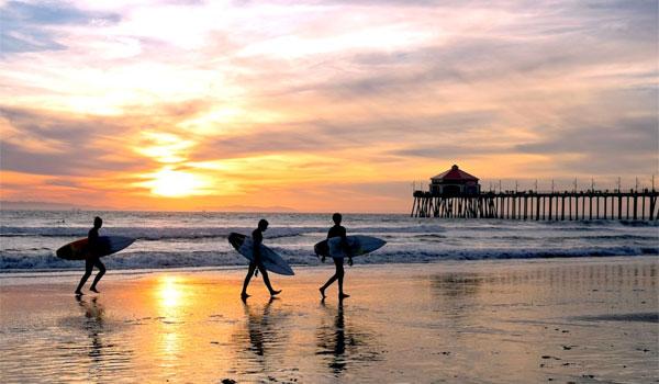 surf w Kalifornii