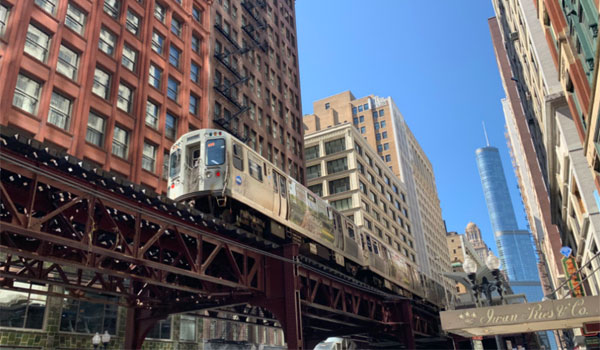 pociąg miejski Chicago