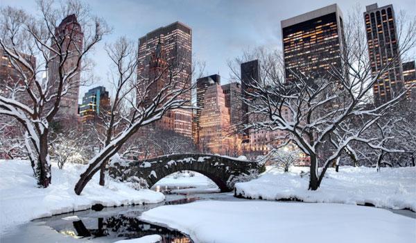 pogoda w Nowym Jorku zimą