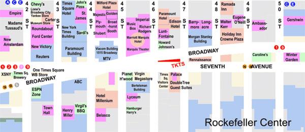 mapa Times Square