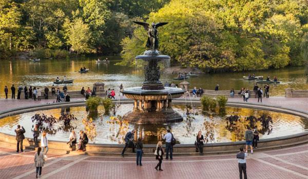 Central Park fontanna Bethesda