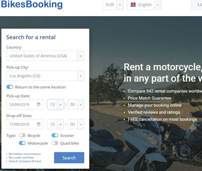 Bikes Booking search engine