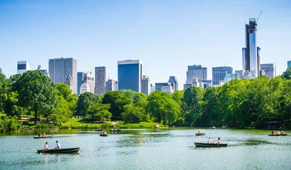 łódki w Central Parku